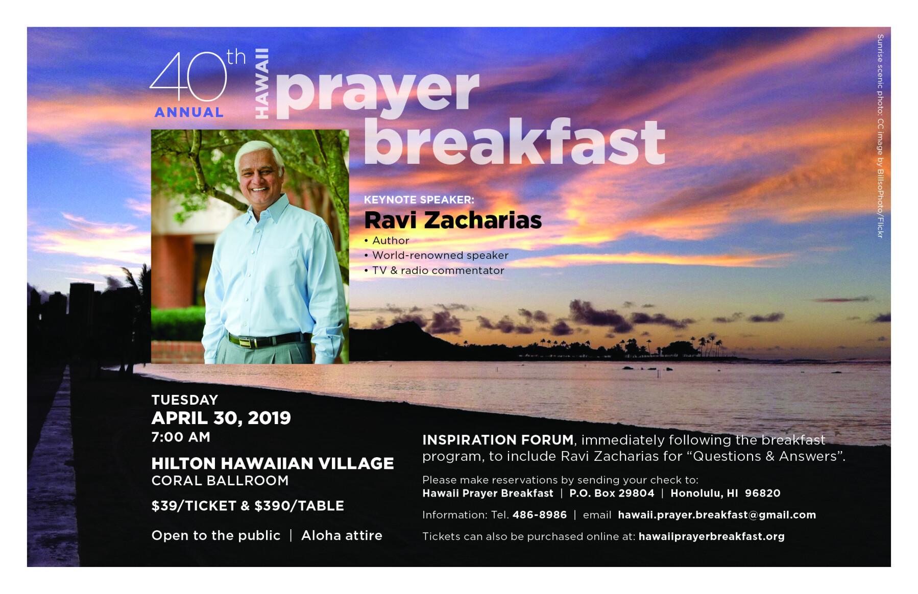 40th Annual Hawaii Prayer Breakfast